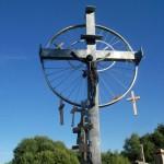 Fahrradreifen-Kreuz