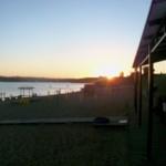 Der Strand vor der Tür, Sonnenuntergang inklusive :)
