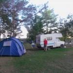 Das obligatorische Bild unseres Stellplatzes auf dem Campingplatz