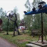schicke Metall-Skulpturen...