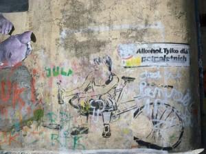Grafitti aus Warschau, irgendwas mit Alkohol